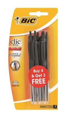 Bic Clic Medium 4 3 Black Ink