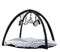 babyluv play mat and mobile black white decor