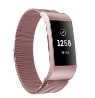 fabulously fit fitbit charge 3 metallic strap accessory