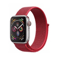 govogue woven nylon strap for apple watch red 42mm44mm accessory