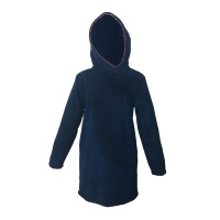 Hannah Grace Kids Coral Trimmed Hooded Navy Towels