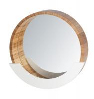 wenko wall mirror finja with shelf bamboo mirror