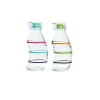 consol 350ml curvy bottle with silicone lid multicolour 2pk water bottle