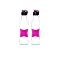 consol 500ml grip n go bottle sports lid pink 2pk water bottle