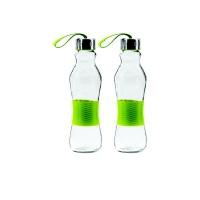 consol 500ml grip n go bottle strap lid green 2pk water bottle