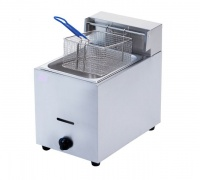 aloma single gas deep fryer 6l