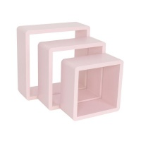 spaceo set of 3 cubed shelves pink entertainment center