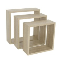 spaceo set of 3 cubed shelves entertainment center