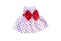 red polka dot dress new