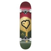 blueprint skateboard complete spray heart burgundy gold skateboarding