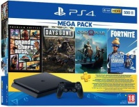 playstation 4 console with 3 games a fortnite voucher code