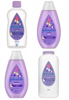 johnsons bedtime baby combo pack oil bath shampoo powder 4 skin care