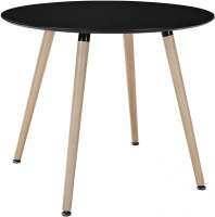 constance round dining table 11075cm black kitchen table
