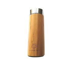 bamboo and stainless steel loose leaf tea flask 450ml water bottle