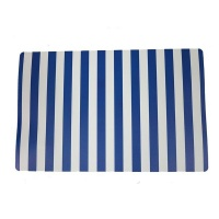 12 packet blue stripe placemat hob