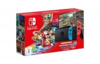 nintendo switch console neon red blue mario kart 8