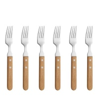 amefa steak forks wood 6 piece cutlery