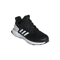 adidas junior rapidarun knit shoes blackwhite shoe