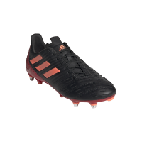 adidas Mens Predator Malice Control Soft Ground Rugby Boots BlackRed
