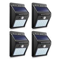 LMA Set of 4 PIP Motion CDS Night Sensor Solar LED Wall Light