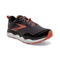 Brooks Mens Caldera 4 Neutral Trail Running Shoes Black Orange