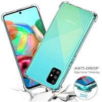 Samsung Boo Shockproof TPU Gel Cover for Galaxy A71 Clear
