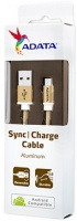 adata 1m micro usb sync charge cable gold