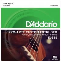 DAddario DAddario EJ65S Pro Arte Custom Extruded Soprano Nylon Ukulele Strings
