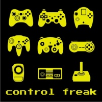 Control Freak Mens T Shirt Black