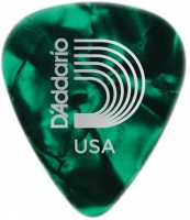 planet waves 1cgp6 classic celluoid heavy pick green pearl guitar accessory