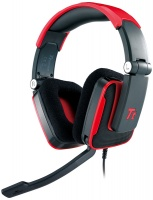 tt esports shock gaming headset red by thermaltake