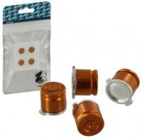 Zedlabz Alloy Metal Bullet Buttons X4 Gold