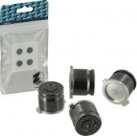 Zedlabz Alloy Metal Bullet Buttons X4 Gun Grey Metal