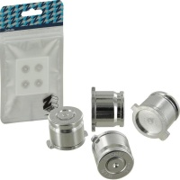 Zedlabz Alloy Metal Bullet Buttons X4 Silver