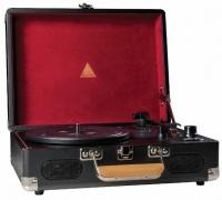 elyxr revolution vinyl player black and burgundy