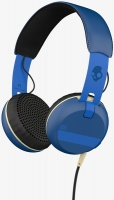 skullcandy grind headset with tap tech royal blue