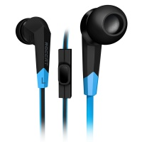 roccat syva high performance in ear headset blackblue