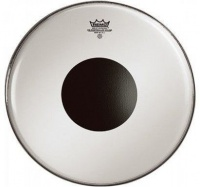 REMO CS 1224 10 24 Controlled Sound Smooth White Bass Drum Batter Drum Head with Black Dot