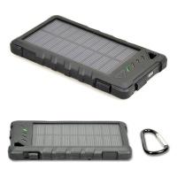 port designs rugged solar powerbank battery 8000 mah black power bank