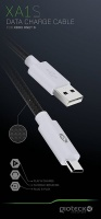 gioteck xa1 white charge and data micro usb cable xbox one