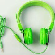 kids bubblegum tablet green headphones