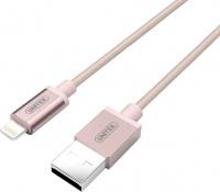 unitek 1m usb to lightning cable rose gold