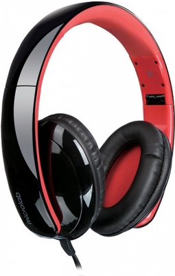 Photo of Microlab K360 Foldable Lightweight Headphones - Black and Red