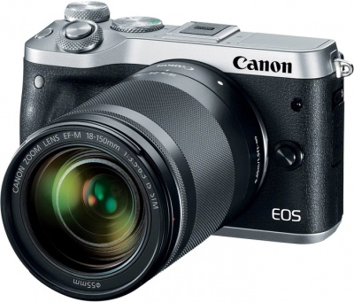 Photo of Canon EOS M6 Mirrorless Kit with EF-M 18-150mm 1:3.5-6.3 IS STM Lens - Black and Silver Digital Camera