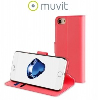muvit folio wallet case for iphone 7 pink