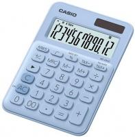 casio ms 20uc lb s ec light blue 12 digit desktop calculator
