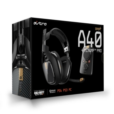 Photo of Logitech ASTRO Gaming - A40 TR Headset Inc Mix Amp Pro - Black