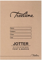 treeline a4 scribbler feint and margin soft cover 72 page