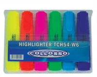 collosso highlighters chisel tip pack of 6 highlighter