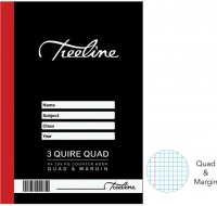 treeline 3 quire a4 288 pg hard cover book quad and margin
